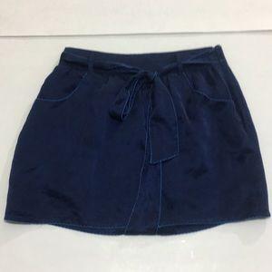 Forever 21 navy blue satin skirt